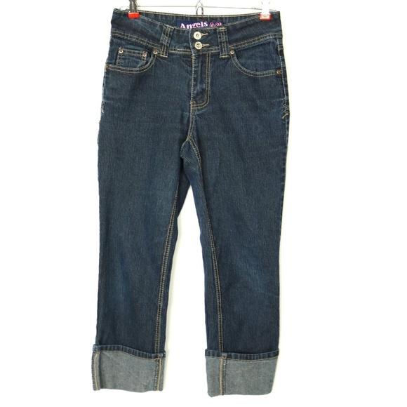 fec4a0fd609f2 Angels Jeans Capri Cropped 6 Stretch Button Flap